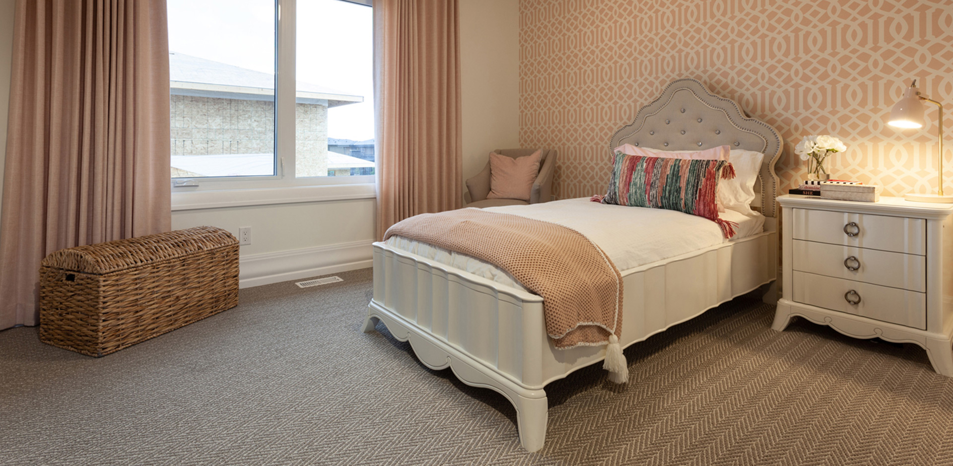 Girls Bedroom in the Wolf Custom Homes Show Home