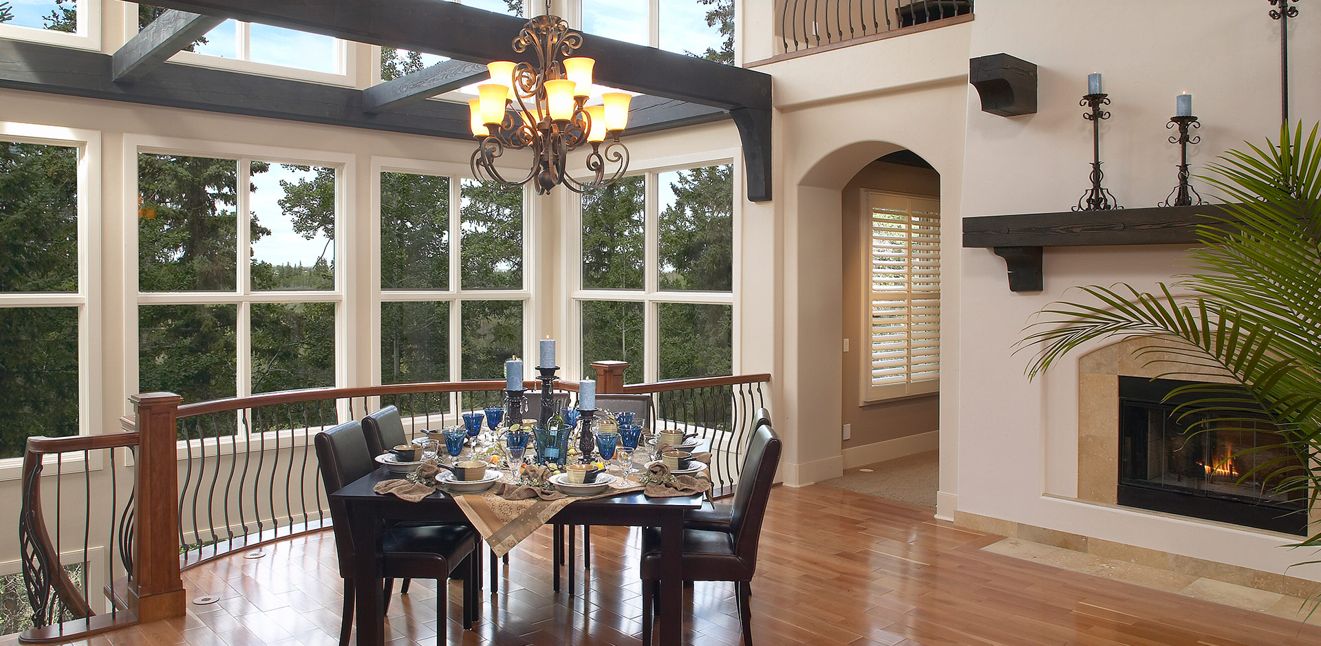 Large Windows in A Wolf Custom Homes Living Area